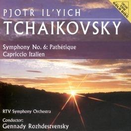 SYMPHONY NO.6:PATHETIQUE W/RTV SYMPHONY ORCHESTRA, GENNADY ROZHDESTVENSKY-COND. Audio CD, P.I. TCHAIKOVSKY, CD