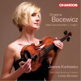 VIOLIN CONCERTOS NOS.1, 3 BOROWICZ, L.//KURKOWICZ/POLISH RADIO SYMPHONY ORC Audio CD, G. BACEWICZ, CD