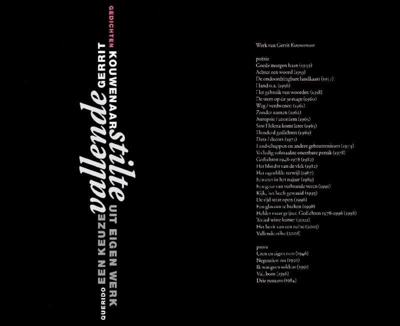 Vallende stilte een keuze uit eigen werk, Kouwenaar, Gerrit, Ebook