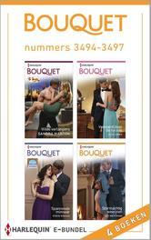 Bouquet e-bundel nummers 3494-3497 (4-in-1) Wilde verlangens ; Veroverd door de tycoon ; Spannende minnaar ; Stormachtig weerzien, Marton, Sandra, Ebook
