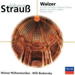 WIENER WALZER WIENER PHILHARMONIKER, WILLI BOSKOVSKY Audio CD, J. STRAUSS, CD