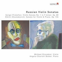 RUSSIAN VIOLIN SONATAS DINNEBIER/BIEBER Audio CD, SHOSTAKOVICH/PROKOFIEV, CD