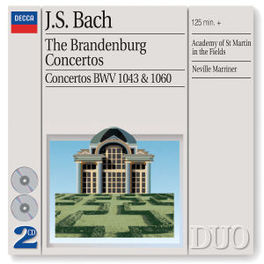BRANDENBURG CONCERTOS 1-6 A.S.M.I.F./NEVILLE MARRINER Audio CD, J.S. BACH, CD