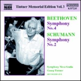 TINTNER MEMORIAL EDITION BEETHOVEN/SCHUMANN, CD