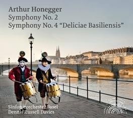 SYMPHONY NO.2 & 4 S.O.BASEL/DENNIS RUSSELL DAVIES A. HONEGGER, CD