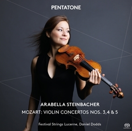 VIOLIN CONCERTOS NOS... .. 3, 4 & 5 / ARABELLA STEINBACHER/DANIEL DODDS W.A. MOZART, CD