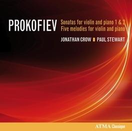 SONATAS FOR VIOLIN AND.. .. PIANO JONATHAN CROW, CD