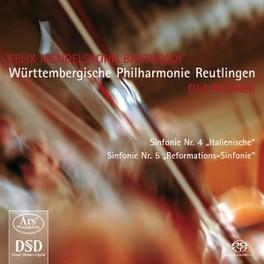 SYMPHONIES NO.4 & 5 WURTTEMBERGISCHE PHILHARMONIE REUTLINGEN MENDELSSOHN-BARTHOLDY, F., CD