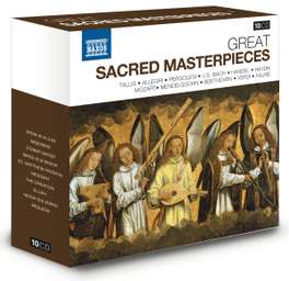 GREAT SACRED MASTERPIECES TALLIS SPEM IN ALIUM/MISERERE/MATTHEUS PASSION/MESSIAH V/A, CD