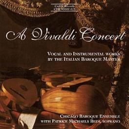 VOCAL & INSTRUMENTAL WORK CHICAGO BAROQUE ENSEMBLE/MICHAELS A. VIVALDI, CD