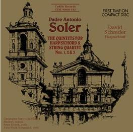 QUINTETS FOR HARPSICHORD/ W/DAVID SCHRADER A. SOLER, CD