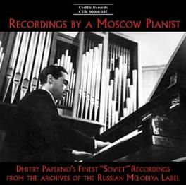 RECORDINGS BY A MOSCOW PI DMITRY PAPERNO, CD