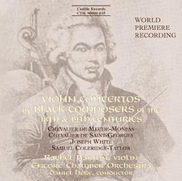 VIOLIN CONCERTOS ENCORE CHAMBER ORCHESTRA WHITE/COLERIDGE-TAYLOR, CD