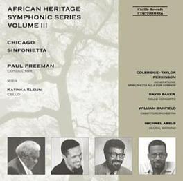 AFRICAN HERITAGE SYMPHONI W/ABELS, BAKER, BANFIELD, PERKINSON CHICAGO SINFONIETTA, CD