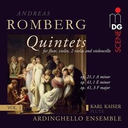 FLUTE QUINTETS VOL.1 ARDINGHELLO ENSEMBLE/KARL KAISER A. ROMBERG, CD