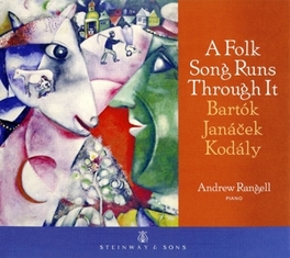 A FOLK SONG RUNS THROUGH WORKS BY JANACEK/BARTOK ANDREW RANGELL, CD