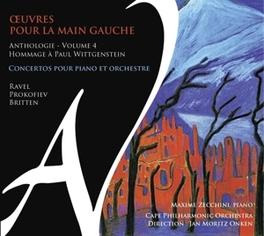 OUVRES POUR LA MAIN GAUCH MAZIME ZECCHINI, CD
