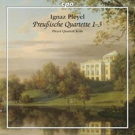 PRUSSIAN QUARTETE 1-3 PLEYEL QUARTETT KOLN I.J. PLEYEL, CD