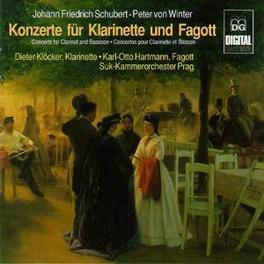 CONCERTOS FOR CLARINET & SUK CHAMBER ORCHESTRA PRAGUE/DIETER KLOCKER SCHUBERT/TAUSCH/WINTER, CD