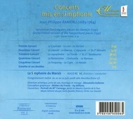 CONCERTS MIS EN SIMPHONIE LA SYMPHONIE DU MARAIS/REYNE Audio CD, J.P. RAMEAU, CD