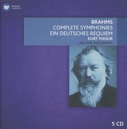 COMPLETE SYMPHONIES KURT MASUR J. BRAHMS, CD