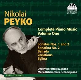 COMPLETE PIANO MUSIC KOROSTELYOV/DZHEMESIUK N. PEYKO, CD