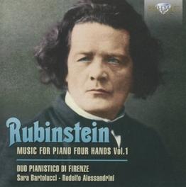 MUSIC FOR PIANO 4 HANDS 1 SARA BARTOLUCCI/RADOLFO ALESSANDRINI (FIRENZE PIANO DUO A. RUBINSTEIN, CD