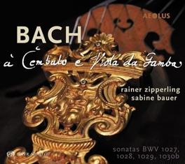 SONATAS FOR VIOLA DA.. .. GAMBA & CEMBALO//RAINER ZIPPERLING/SABINE BAUER J.S. BACH, CD
