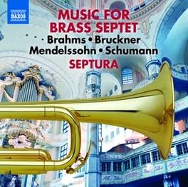 MUSIC FOR BRASS SEPTET WORKS MY BRAHMS/BRUCKNER/MENDELSSOHN/SCHUMANN SEPTURA, CD