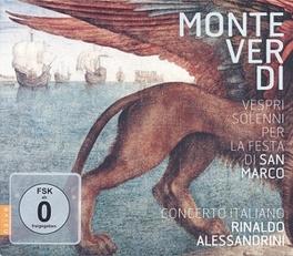 VESPRI SOLENNI PER LA FES CONCERTO ITALIANO/RINALDO ALESSANDRINI MONTEVERDI, C., CD