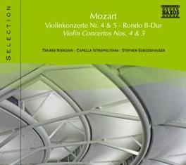 VIOLIN CONCERTOS NO.4 & 5 NISHIZAKI W.A. MOZART, CD