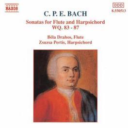 SONATAS FOR FLUTE & HARPS WQ. 83-87 BELA DRAHOS/ZSUZSA PERTIS C.P.E. BACH, CD