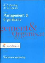 Management en organisatie theorie en toepassing, Eppink, D.J., Hardcover