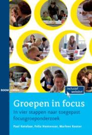 Groepen in focus in vier stappen naar toegepast focusgroeponderzoek, Paul Ketelaar, Paperback