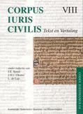 Corpus Iuris Civilis VIII Codex Justinianus 4 - 8 VIII Codex Justinianus iv-viii