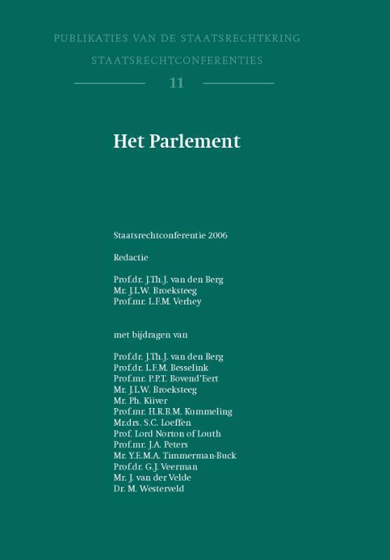 Het Parlement Publikaties van de staatsrechtkring, Paperback