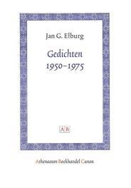 Gedichten 1950-1975 Athenaeum Boekhandel Canon, Jan G. Elburg, Paperback