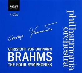 FOUR SYMPHONIES PHILHARMONIA ORCHESTRA/C.VON DOHNANYI J. BRAHMS, CD