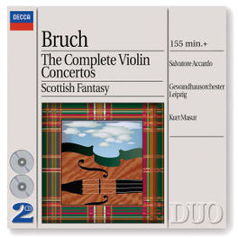 COMPLETE VIOLIN CONCERTOS W/SALVATORE ACCARDO-VIOLIN, KURT MASUR, GEWANDHAUSORCHE Audio CD, M. BRUCH, CD