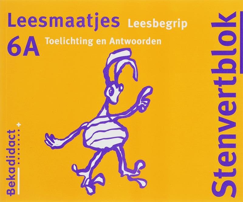 Stenvert Leesmaatjes 6A Begrijpend lezen Toelichting en antwoorden Stenvertblok, H. Hokke, Paperback