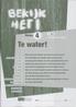 Bekijk het! Vmbo-KGT 1/4 te water Werkboek