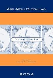 Constitutional Law of the Netherlands an introduction with texts, cases and materials, Paperback