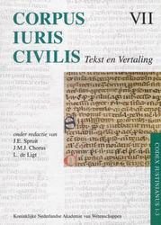 Corpus Iuris Civilis VII Codex Justinianus 1 - 3 7 VII Corpus Iuris Civilis