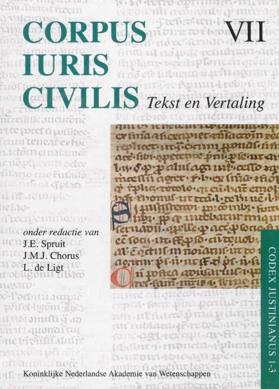 Corpus Iuris Civilis VII Codex Justinianus 1 - 3 7 VII Corpus Iuris Civilis Hardcover