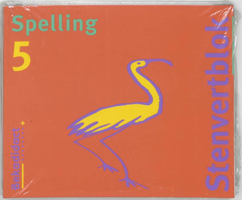Stenvert taalblok: 5 Jaargroep 7/8 5 ex: Spelling M. van der Borgh, Paperback