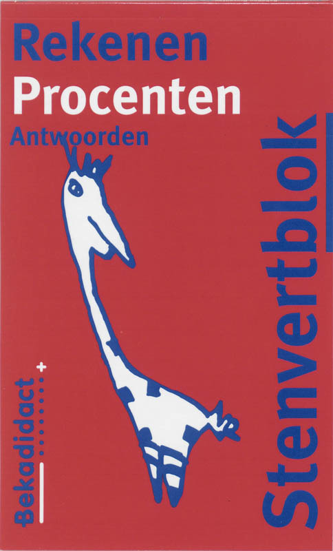 Stenvertblok rekenen: Procenten: Antwoorden Stenvertblok, Eisenga, B., Paperback