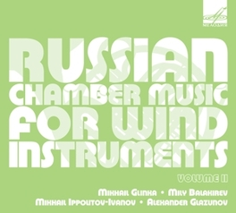 RUSSIAN CHAMBER MUSIC FOR SOKOLOV/KRASAVIN/TIMOFEYRA/ZVEREV GLINKA/BALAKIREV/GLAZUNOV, CD