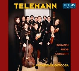 SONATEN/TRIOS/CONCERTI L'ACCADEMIA GIOCOSA G.P. TELEMANN, CD