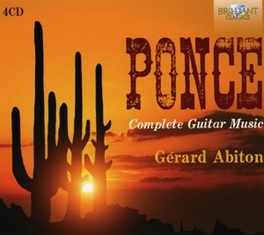 COMPLETE GUITAR MUSIC GERARD ABITON M. PONCE, CD