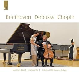 CHAMBER WORKS MATTHIAS RANFT/TOMOKO OGASAWARA BEETHOVEN/DEBUSSY/CHOPIN, CD